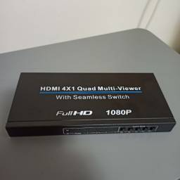Chaveador Switch Hdmi Multi-viewer 4x1 1080p
