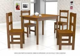 Mesa 4 Cadeiras 100% Madeira