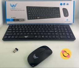 Kit teclado e mouse Altomex A-9020 - sem fio- Pilha AAA