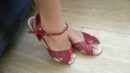 Sandália feminina marsala
