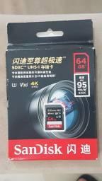 Cartão SDXC Sandisk Extreme Pro 64Gb