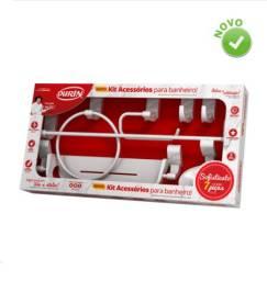 Kit Acessórios para Banheiro Sofisticato 7 peças Branco - Durín;