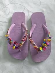 Par de chinelos personalizados Havaianas 37/38