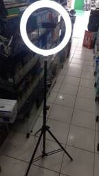 Ring Light Led Iluminador 26cm Completo Tripé 2.10cm