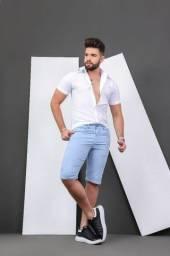 Bermuda Masculina Slim fit