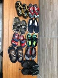 Lote de sapatos menino TAM 20-21-22