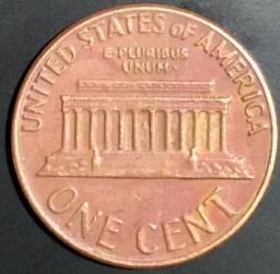 Moeda antiga 1 cent Dollar 1969 D