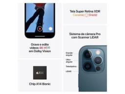 iPhone 12 Pro Apple 256GB Dourado 6,1? - Câm. Tripla 12MP iOS 12x sem juros cartao
