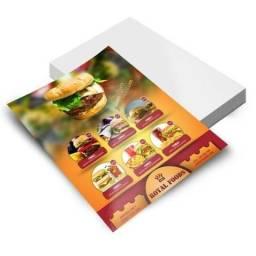 2.500 Panfletos Coloridos - 10x14cm - Arte Grátis - em 10x sem juros nos cartões
