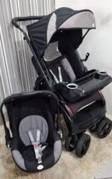 Carrinho + Bebê Conforto Tutty Baby (Preto com cinza)!!!