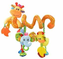 Espiral de pelúcia Girafinha - Pelúcia interativa para bebês