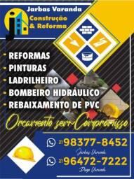 Profissional em construções, reformas e acabamentos.