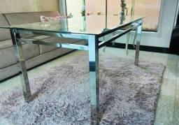 Mesa de Cozinha / Jantar - 100% em aço inox - 6 lugares - NOVA - Sem vidro