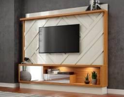 Home Thay 100% MDF, Laca c/ Espelho e Led p/ TV até 65? - Entrega Rápida