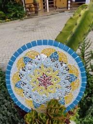 Mandala artesanal. Flor da vida.