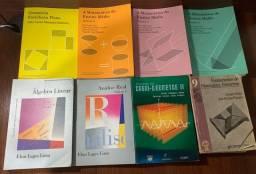 Livros de matemática e física