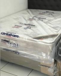 Colchão G Premium Ortobom Pillow de Visco + Box Casal - Frete Grátis