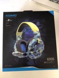 Headset headphones gamer profissional para celular, vídeo game e computador