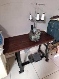 Máquina de Costura Overlock Semi-Industrial c/ Motor Grande+Mesa