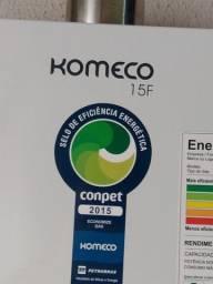 """Aquecedor já """" instalado """" de água a gás glp komeco 16.5 litros com garantia de 8 meses"""