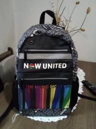 Título do anúncio: Mochila Now United preta. Pindamonhangaba-SP.
