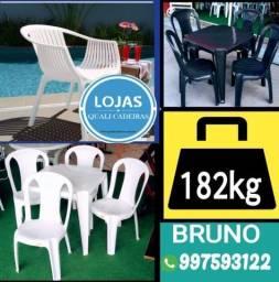 Semana de Oferta - Mesa 70x70 + Cadeiras 182kg