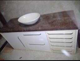 Banheiro - Armário inferior MDF pintado branco