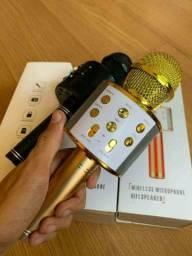 Microfone Karaokê Bluetooth Portátil Com Controle Mixer ??: