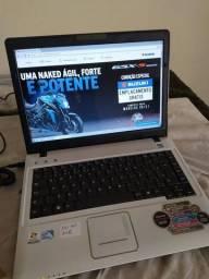 NOTEBOOK COM GARANTIA 2GB 160HD $550