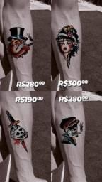 Tattoos promocionais de barbada!