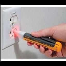Chave teste indução / detector corrente elétrica com bip sonoro