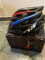 Capacete TSW  + óculos ciclismo