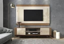 """Rack + Painel  Legacy para Tv até 65"""" Off White/Naturale- Entrega Rápida"""