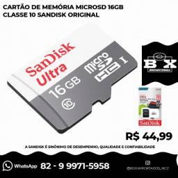 Cartão de memória SanDisk Ultra com adaptador SD 16GB
