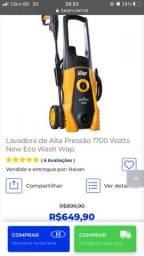 Título do anúncio: Lavadora alta pressão 1700 Watts New Eco Wash Wap e pulverizador lateral vender 5 litros