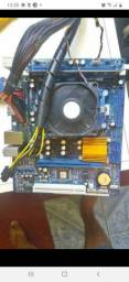 Kit am3 placa e processador sem memoria