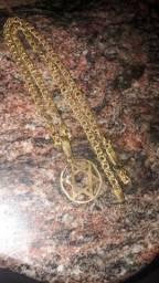Título do anúncio: Cordão de prata banhado a ouro top
