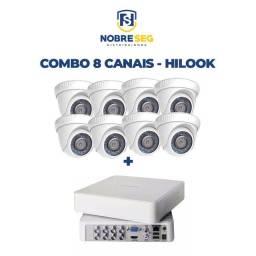 Kit 8 Canais - Câmera dome 720p + DVR 04 canais 4mp