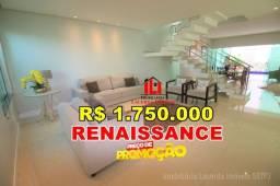 Residencial Renaissance, Casa Duplex com 4 suítes 302m² Agende sua Visita