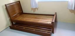 Cama de solteiro com cama auxiliar [Móveis Campo Largo]