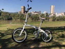 Bicicleta dobrável Tito To Go Aro 20 Shimano 7 velocidades