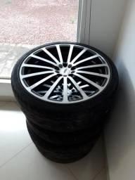 Rodas TSW aro 19 com pneus novos TOYO