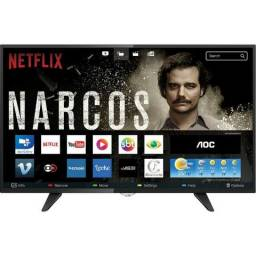 Smart TV led 50'' AOC Full Hd Com Conversor Digital 3 Hdmi 2 Usb 60hz