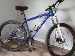 Bicicleta Gonew Endorphine 6.3 - Shimano Alumínio Aro 29 - 21 Marchas - Azul Claro e Azul