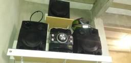 Vendo ou troco som LG 1800 RMS bluetooth 3 caixas