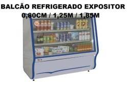 Balcão Vitrine Refrigerado Expositor de Produtos