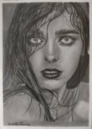 Desenho realista por encomenda a lápis grafite Tamanho A4