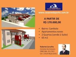 R$ 170.000,00 - Apartamento Novo Porto Seguro - BA