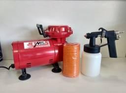 Kit Compressor Ar Direto 2,3 Pes 40LBF Jetmais Bivolt Motomil