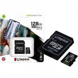 Cartao de memoria Kingston 128gb - classe 10 / 100mps